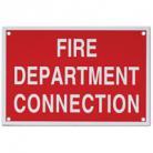 Fire Department Connection Sign (Aluminum)
