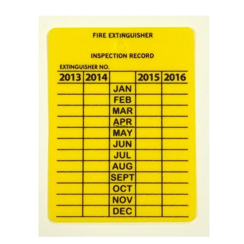 Monthly Metal Inspection Tag 4 Yr.