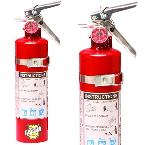 2.5 lb. ABC Dry Chemical Fire Extinguisher with Vehicle Bracket