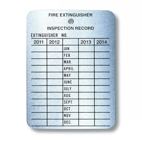 Monthly Inspection Tags